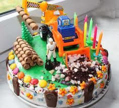 Výsledek obrázku pro jednoduchý narozeninový dort pro děti Cakes For Boys, Food And Drink, Birthday Cake, Desserts, Construction, Children, Tailgate Desserts, Building, Young Children
