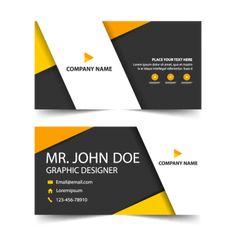 Plantilla de tarjeta de visita roja vector gratis diseo business card template design vector geometric graphic card reheart Images