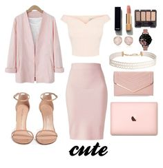 """pink"" by babypinepple on Polyvore featuring Winser London, Stuart Weitzman, Chanel, Monica Vinader, Olivia Burton, Humble Chic и Sasha"