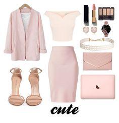 """pink"" by babypinepple on Polyvore featuring Winser London, Stuart Weitzman, Chanel, Monica Vinader, Olivia Burton, Humble Chic и Sasha"