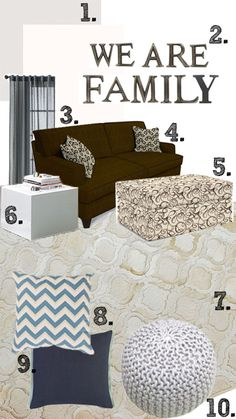 """""""We Are Family"""" Room Mood Board 