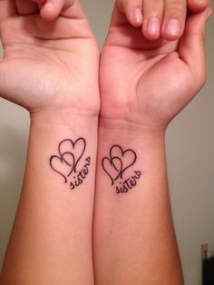 Sister tattoos If I wasn't such a weenie and my sister allergic to everything I would tell her we need these!