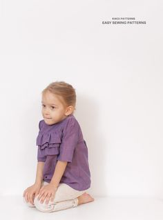 Lilly ruffle BLOUSE pattern  girls tunic by AmelieClothing on Etsy, $7.50