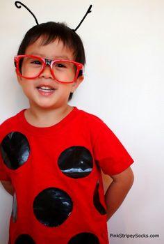 2 DIY Duct Tape Bug Costumes | Pink Stripey Socks