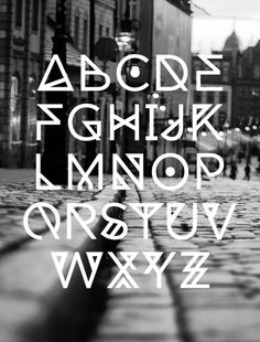 19 Free Geometric, Angular, Rune-esque Style Fonts: