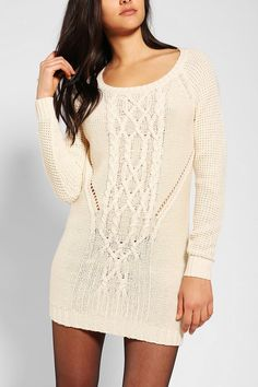 Silence + Noise Cable-Knit Bodycon #Sweater #Dress Get 5% Cash Back http://studentrate.com/itp/get-itp-student-deals/Urban-Outfitters-Student-Discounts--/0