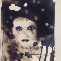 Ink fire wax #pyrography #ink #art #wax