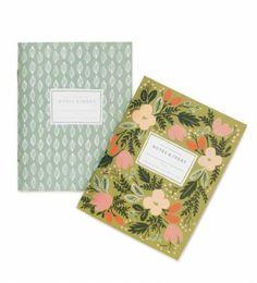 Rifle Paper Co. - Moss Garden - Pair Of Pocket Notebooks