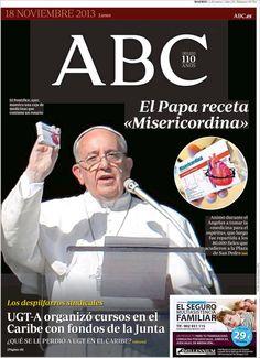 Los Titulares y Portadas de Noticias Destacadas Españolas del 18 de Noviembre de 2013 del Diario ABC ¿Que le pareció esta Portada de este Diario Español?
