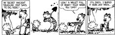 Calvin finds treasure