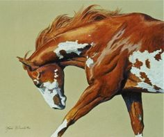 Poetry In Motion.  Original Pastel Painting Paint Horse/Equine Art/Western Art www.marshamcdonald.com