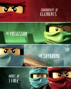 """#Ninjago Kai, Lloyd, Jay, Kai and Nya [ """"Tournament of Elements. The Possession. The Skybound. Hands of Time"""" ] My edit. Hope you'll like it. Give me credit, if you repost! ( @smaragdamalia // instagram, tumblr, twitter )"""