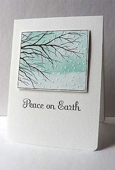Faux Embossing Peace on Earth card
