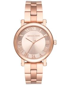 Michael Kors Women's Norie Rose Gold-Tone Stainless Steel Bracelet Watch 38mm MK3561
