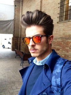 Marco Taddei wearing SPEKTRE Sunglasses MAS Tortoise + Orange Lenses available at FINAEST.COM | #spektre #trendsetter #luxury #sunglasses #shades #sunnies #marcotaddei