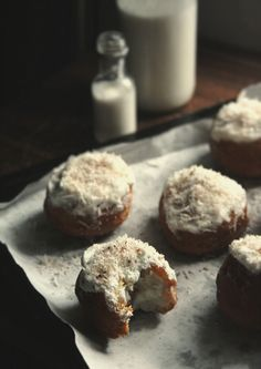 Coconut Tres Leches Doughnuts