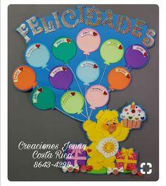 Birthday Calendar Classroom, Birthday Bulletin Boards, Birthday Board, Kids Crafts, Preschool Crafts, Class Decoration, School Decorations, Indoor Activities For Kids, Fun Activities