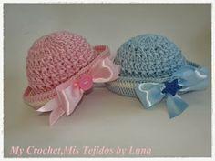 My Crochet , Mis Tejidos: Sailor Newborn Hats and pattern
