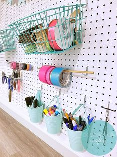 Craft Room Organization Ideas How to use a Pegboard to Organize Craft Supplies Pegboard Craft Room, Craft Closet Organization, Craft Room Storage, Organization Ideas, Ikea Pegboard, Kitchen Pegboard, Pegboard Garage, Pegboard Display, Organizing
