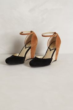 Colorblocked Suede Wedges - Anthropologie.com