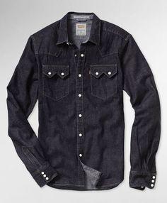 Levi's Sawtooth Western Shirt - Dark Stonewash
