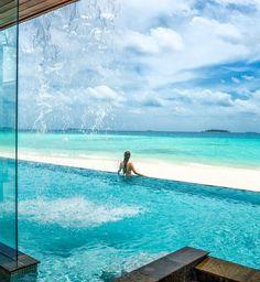 Your waterfall is waiting at Four Seasons Resorts Maldives