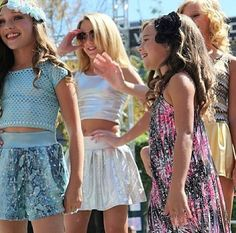 Dance Moms Maddie and Mackenzie Ziegler, Chloe Lukasiak, and Paige Hyland. They are beautiful little girl!