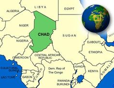 Republic of Chad is a landlocked country in Central Africa. #summer #sun #maps