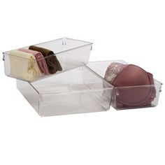Linus™ Closet Drawer Organizers - another option for organizing undergarments - $7.99-$9.99 ea - containerstore.com