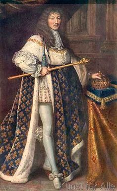 Pierre Mignard - Ludwig XIV. m. Krönungsmantel/P.Mignard