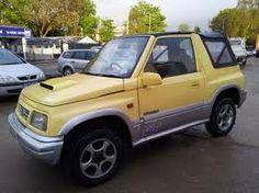 Yellow Suzuki Jeep