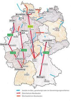 So verlaufen rund 800 Kilometer Stromtrasse durch Deutschland.