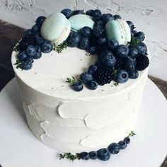 Rustic wedding cake or shower cake for summer.