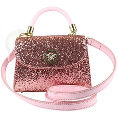 442a98ec4 Young Versace girls pink glitter handbag. Also available in white. #versace  #youngversace