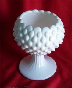 Fenton Hobnail Ivy Bowl (15) 1959-1969 Fenton Milk Glass, Antique Collectors, Flea Market Finds, Opaline, Glass Collection, Wedgwood, Marbles, Fine China, Easter Eggs