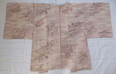 Japanese Vintage Kimono, HAORI, SILK, Light beige , S011002    eBay