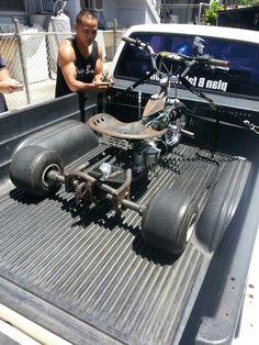 Rat rod moped