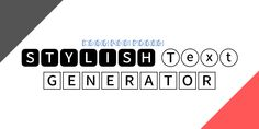 Stylish Text Generator, Tech Companies, Company Logo