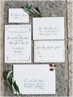 Calligraphy wedding stationery suite via Wedding Sparrow blog www.weddingsparrow.com