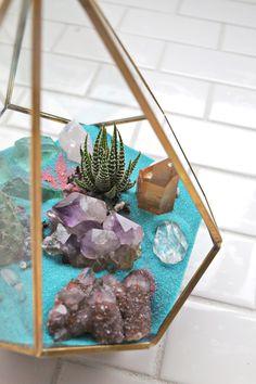 DIY Crystal + Cactus