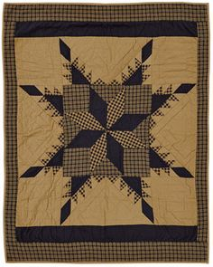 Country and Primitive Bedding, Quilts - Navy Star Bedding by VHC Brands - Country Decor, Primitive Decor, Bedding, Braided Rugs Star Quilt Patterns, Star Quilts, Quilt Blocks, Primitive Stars, Primitive Quilts, Primitive Country, Quilted Throw Blanket, Quilted Throws, Braided Rugs