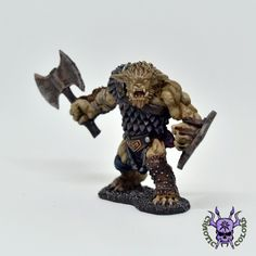 D&D - Kegg, Bugbear Hunter (by Reaper Miniatures) Warhammer Fantasy, Warhammer 40k, Warhammer Age Of Sigmar, 28mm Miniatures, Reaper Miniatures, Dungeons And Dragons, Mini Paintings, Lion Sculpture, Statue