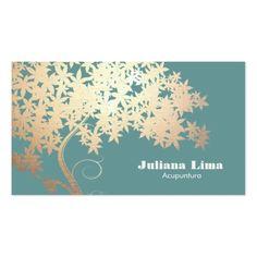 Árvore da saúde e do bem-estar do logotipo da vida cartão de visita