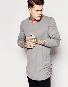 Discover the new collection of clothing for men at ASOS. Shop the latest men's jeans, t-shirts, jackets and more from your favourite brands with ASOS. Latest Mens Fashion, Fashion Online, Hot Guys Tattoos, Stephen James, Long A Line, Asos, Men Sweater, Detail, Sweaters