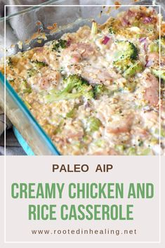 Are you looking for paleo recipes that fit the autoimmune protocol restrictions? Try this delicious creamy chicken and rice casserole!