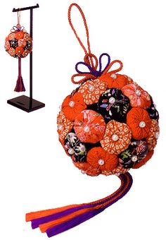 Japanese Blessed Ball Kit -or make with Christmas colors and it could be a Christmas Kissing Ball