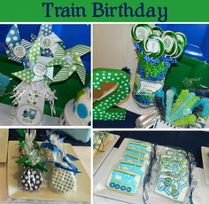 Colby's Train birthday party