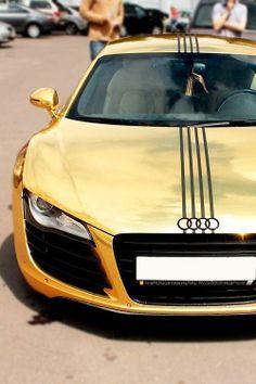 Gold Audi not Bugatti Sexy Cars, Hot Cars, Rolls Royce, Bugatti, Maserati Car, Ferrari Laferrari, Lamborghini Aventador, Aston Martin, Audi R8