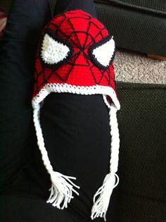 [LOL] Loving Out Loud : Crochet: Spiderman Hat, free tutorial, Crochet Kids Hats, Crochet Beanie, Cute Crochet, Crochet Crafts, Yarn Crafts, Knit Crochet, Crochet Toddler, Crocheted Hats, Yarn Projects