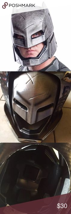 Batman Armored Deluxe Helmet Costume One Size New Batman V Superman Armored Deluxe Helmet Costume One Size    Includes: -1x Armored Batman Deluxe Helmet (2-piece helmet )   For age 14+ Other